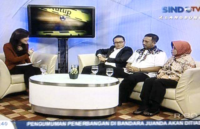 Our CEO, Mr. Andru, as a guest speaker in a private TV at the evening iNews program.