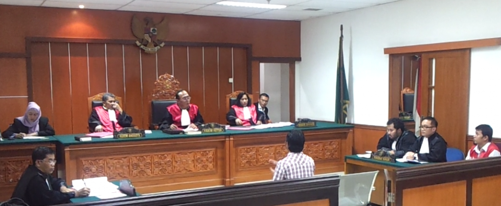 Our CEO, Mr. Andru and Our Associate, Mr. Yudha, is carrying out a criminal trial in the District Court.